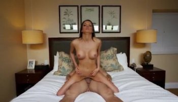 Beautiful Girl Rides Hard And Fast On Massive Cock
